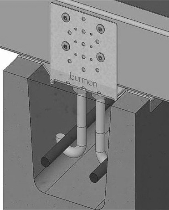 Cyclone Bracket - Connection to Rebar for Masonry Blockwork