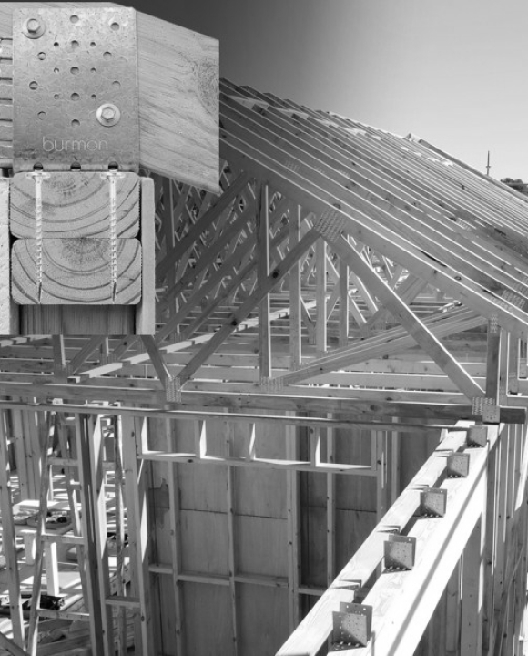 Roof Truss Tie Down Connector for Standard Timber Frame